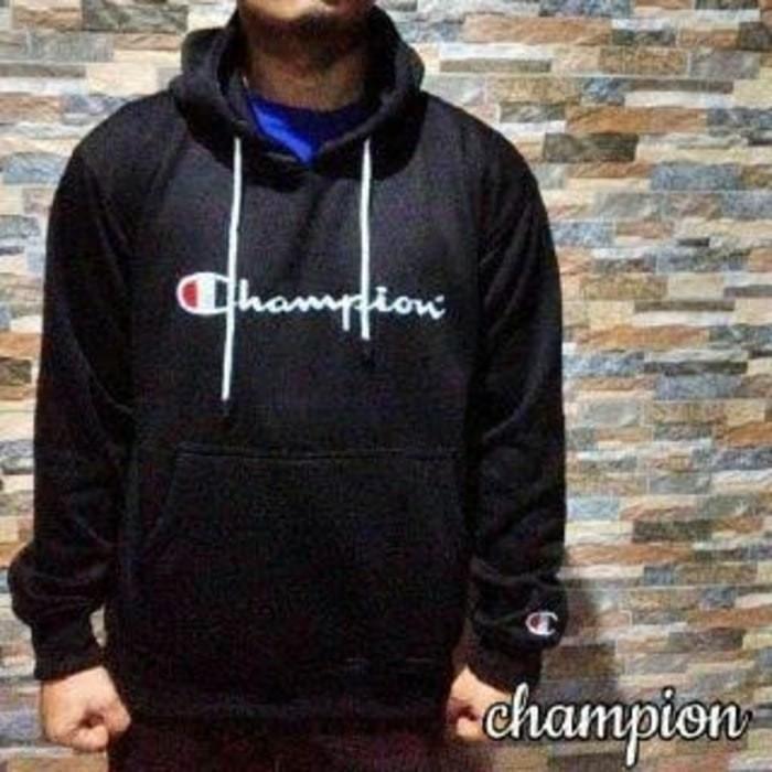 sweater champion hitam bagus murah terbaru