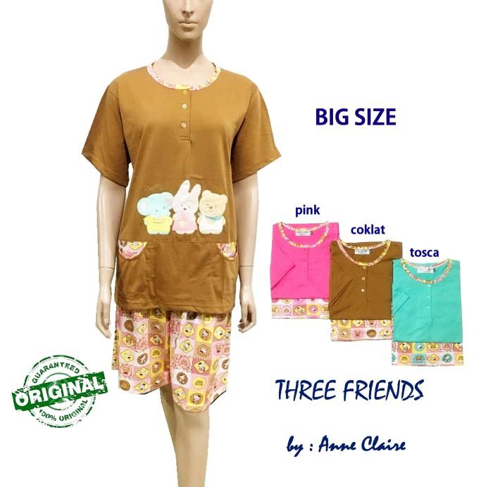 harga Three friends setelan big size / piyama / baju tidur merk anne claire Tokopedia.com