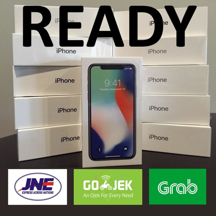 [READY STOCK] iPhone X 64GB 64 GB SPACE GRAY GREY Garansi Apple 1THN