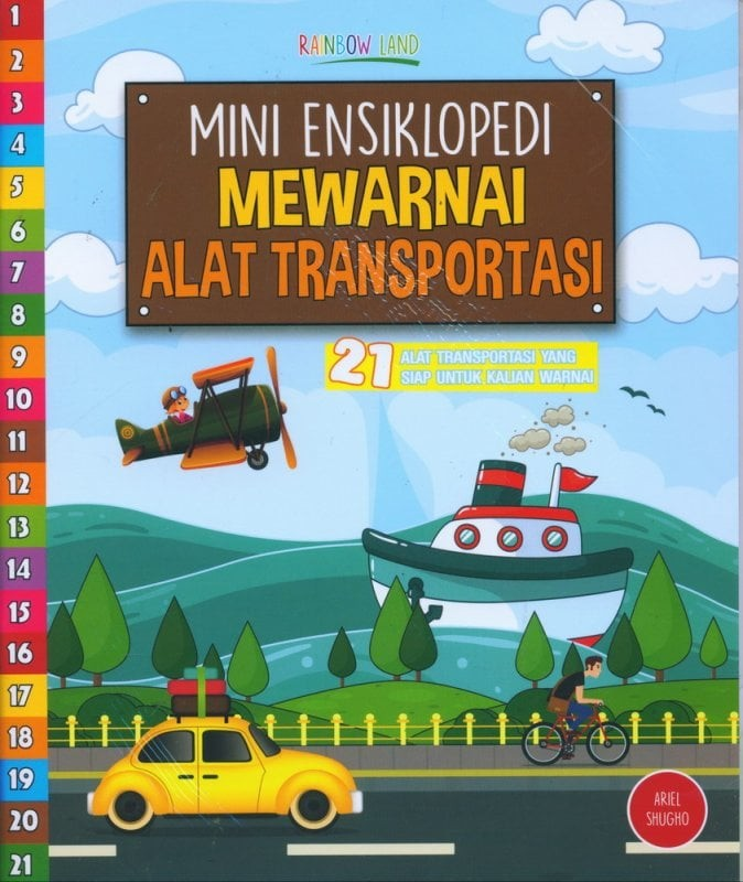 Jual Mini Ensiklopedi Mewarnai Alat Transportasi Bookstore Jakarta