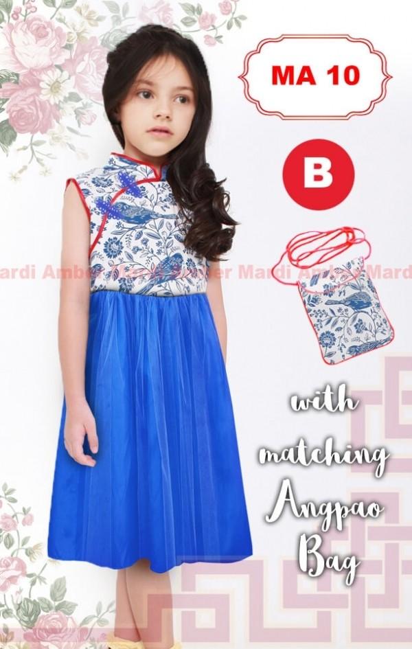 harga Baju Pesta Anak Perempuan Dress Shanghai Satin Tutu Biru Tas Angpao Tokopedia.com