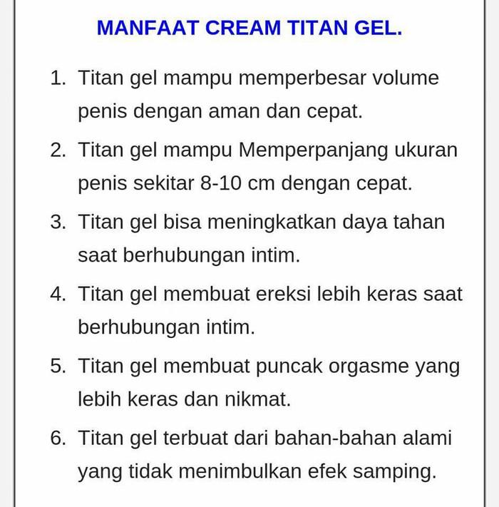 titan gel original herbal 100 import daftar harga terlengkap