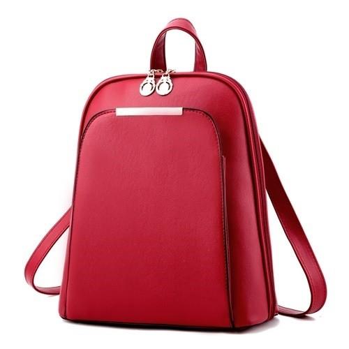 tas ransel backpack sekolah kuliah kerja wanita merah murah impor Tm63 0289adec53