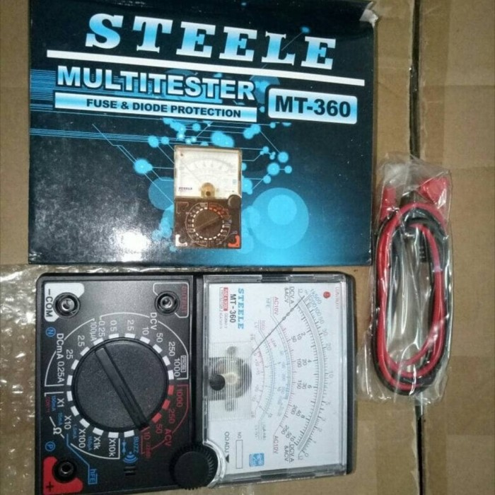 harga Steele mt - 360 multi tester alat ukur tes elektronik elektrik dc volt Tokopedia.com