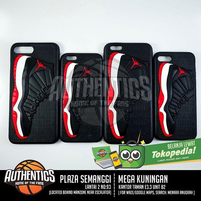 harga 3d sneakers series iphone case - aj xi bred Tokopedia.com