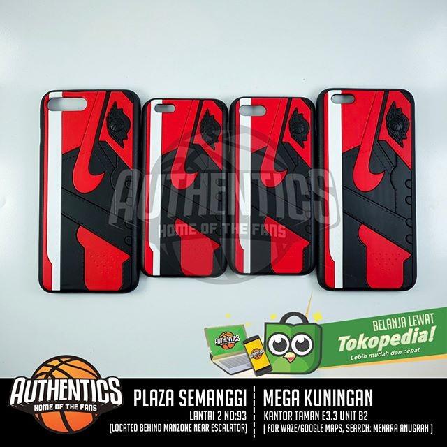 harga 3d sneakers series iphone case - aj 1 bred Tokopedia.com