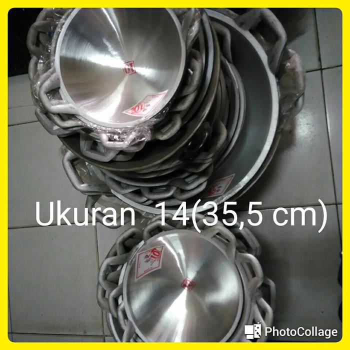 harga Wajan/kuali/penggorengan aluminium 2 ikan/14/(355 cm)/(khusus gojek). Tokopedia.com