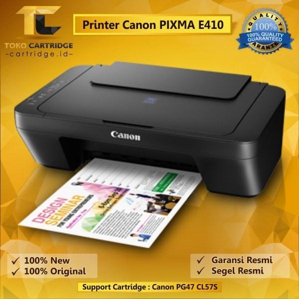 harga Printer canon pixma e410 original (3 in 1) print scan copy psc murah Tokopedia.com