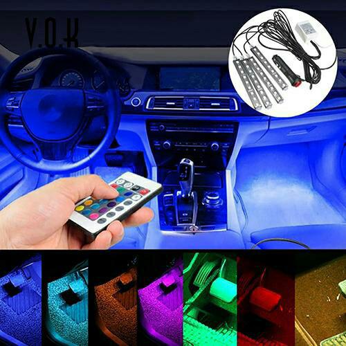 harga Lampu led drl rgb + remote kolong dashboard interior mobil Tokopedia.com