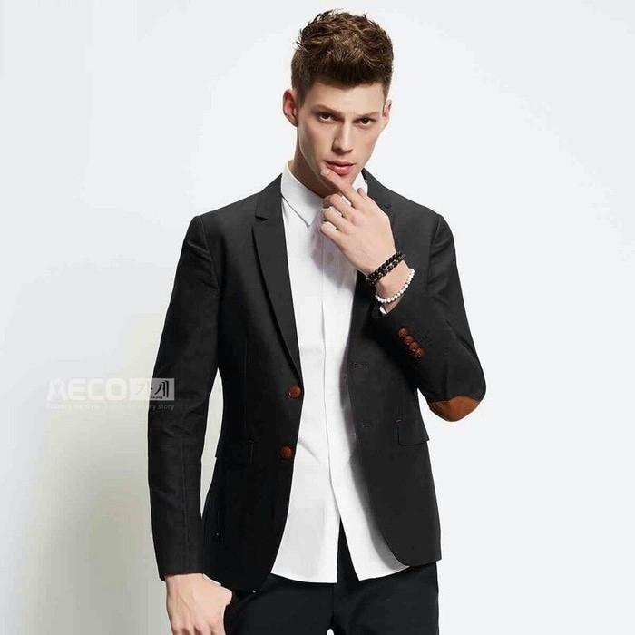harga Jas blazer pria casual formal murah patch elbow premium Tokopedia.com