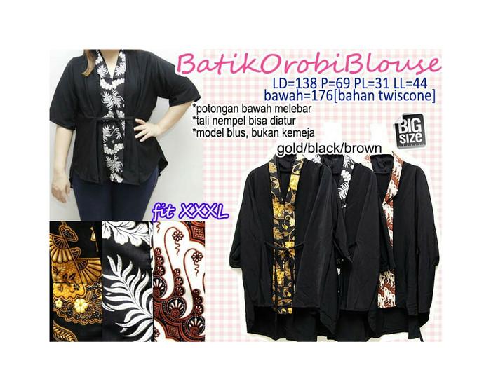 harga Blouse batik jumbo xxxl atasan polos big size 3l blus cewek 3r gendut Tokopedia.com