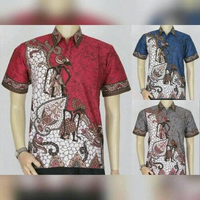 78 Contoh Baju Batik Pria Motif Wayang Terbaru