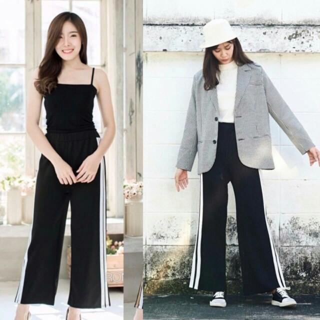 Celana kulot stripe / cullote stripe pant