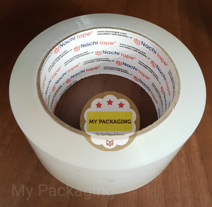 Foto Produk Lakban bening NACHI 2 inch 100yard / isolasi / OPP / Plakban naci dari My Packaging