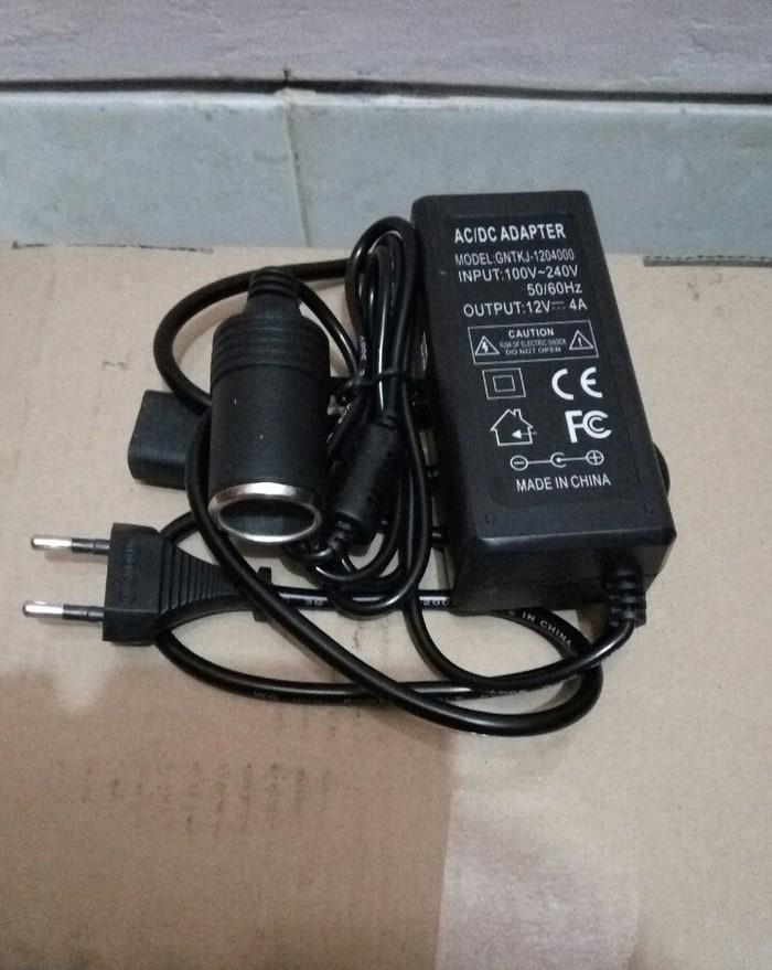 harga Converter adaptor kompresor mini (ac/dc) 220 volt to 12 volt - 6a Tokopedia.com