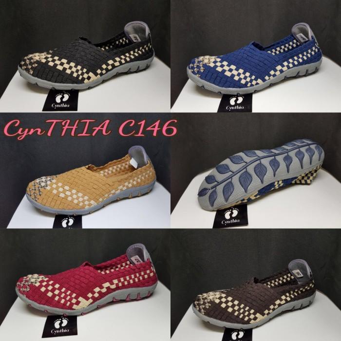 harga Sepatu flat rajut anyaman anyam cynthia type c146 Tokopedia.com