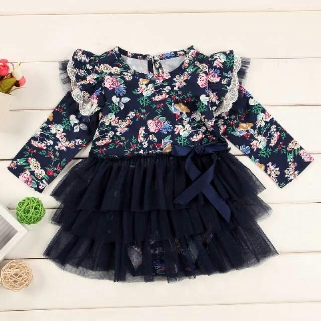 harga Jumper dress panjang tutu flower | baju anak bayi import Tokopedia.com