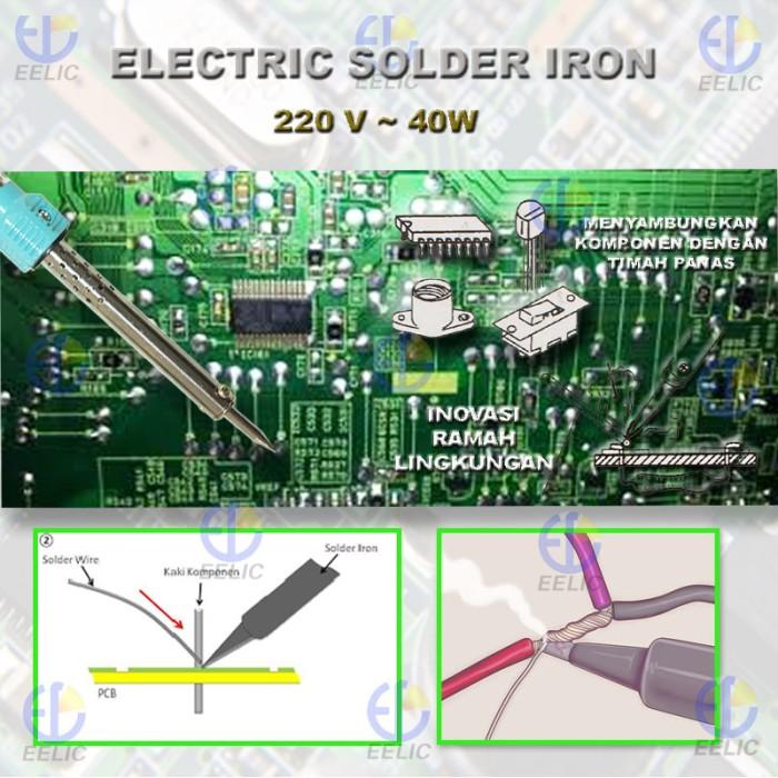 EELIC SOR-40W5 Biru Solder Profesional Sangat Bagus
