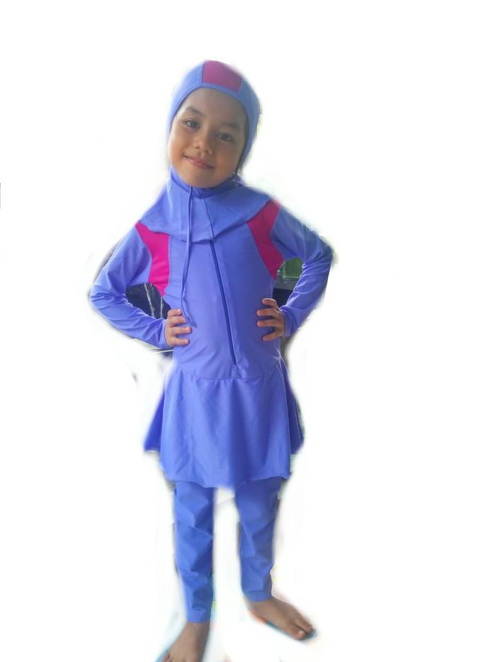 harga 456 th baju pakaian renang muslim jilbab anak perempuan lengan panjang Tokopedia.com