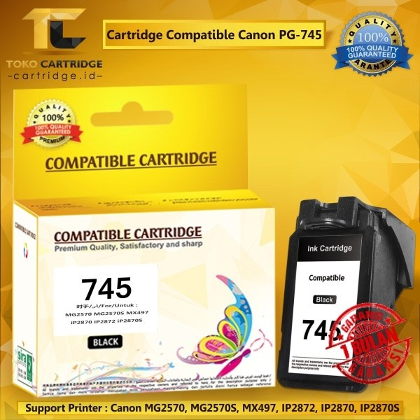 harga Cartridge canon pg745 pg 745 pg-745 black catridge ip2870 mg2570 Tokopedia.com