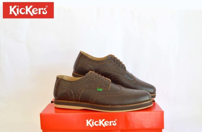 Jual sepatu formal casual pria kickers wingtip coklat kulit pull up ... ff15fa75a8