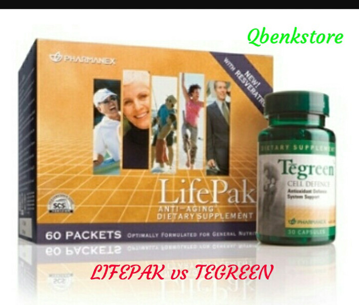 harga Lifepak 2 box 60 sachet & tegreen 120 caps Tokopedia.com