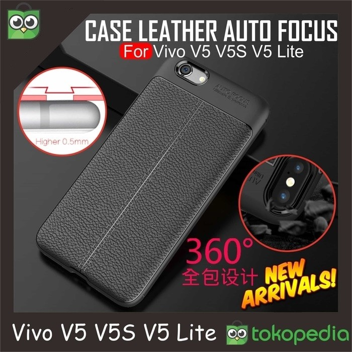 Vivo v5 / v5s / y67 softcase auto focus leather casing hardcase case