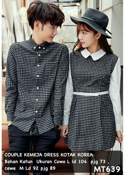 harga Dress pasangan/dress couple/baju couple kemeja kotak murah korea Tokopedia.com