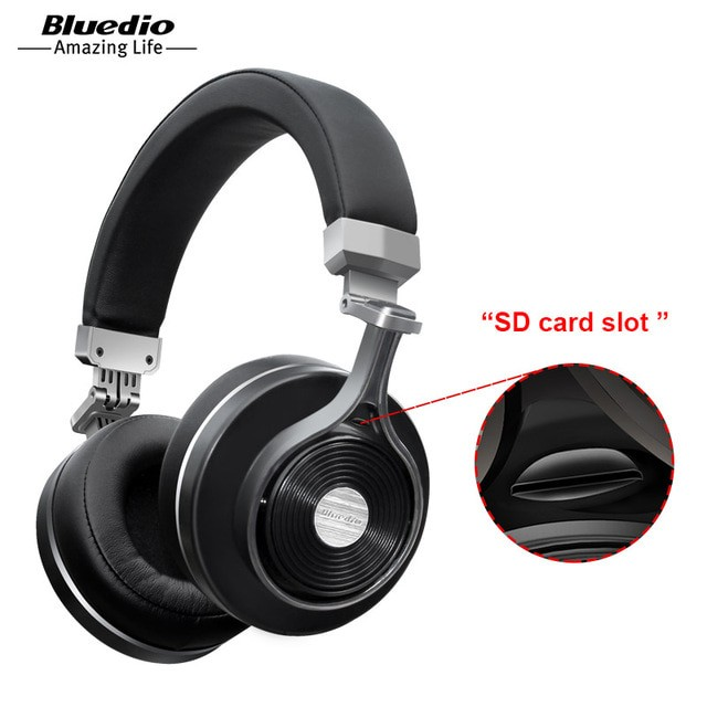 harga Bluedio t3+ / t3 plus wireless bluetooth headset microphone - hitam Tokopedia.com