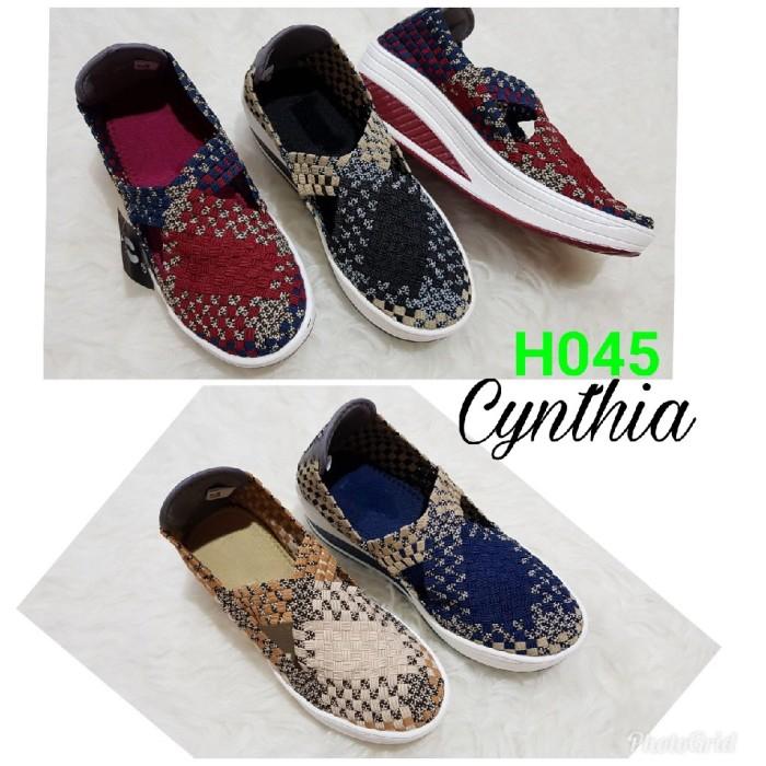 harga Sepatu wedges rajut anyaman anyam cynthia h045 / cynthia wedges h045 Tokopedia.com