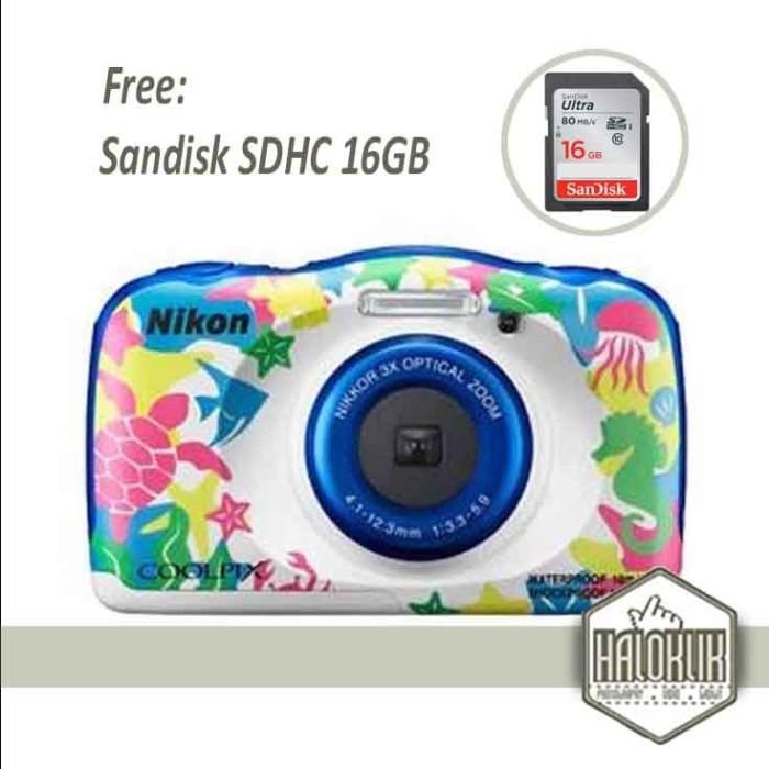 harga Nikon coolpix w100 digital camera + sandisk sdhc ultra 16gb Tokopedia.com