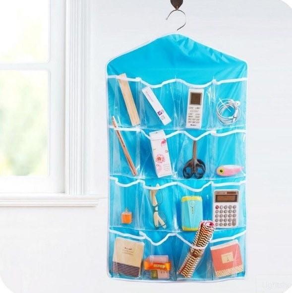 Storage Bag Gantung 16 Kantong Hanger Organizer Underwear Pouch