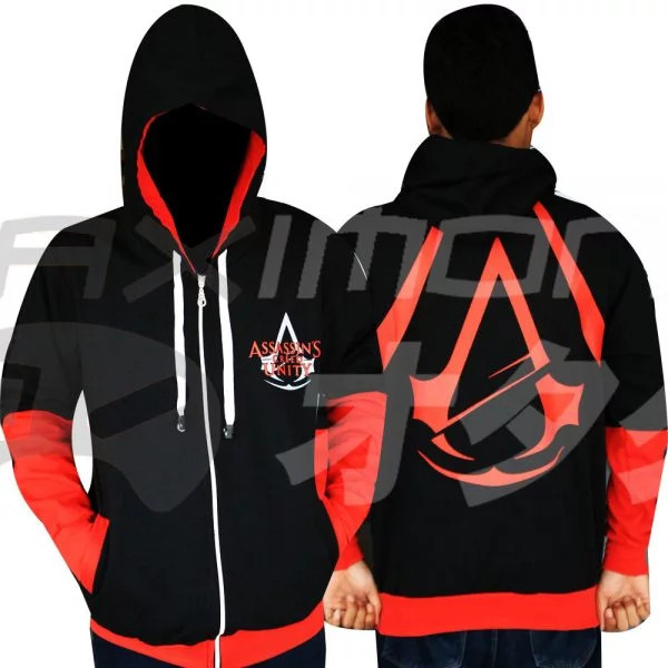 Jual Jaket Anime Black Assassins Creed Hitam M Kab Gresik