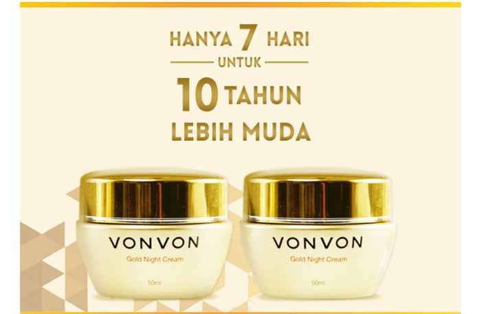 harga Vonvon 24k gold night cream anti aging original lejel / von von Tokopedia.com