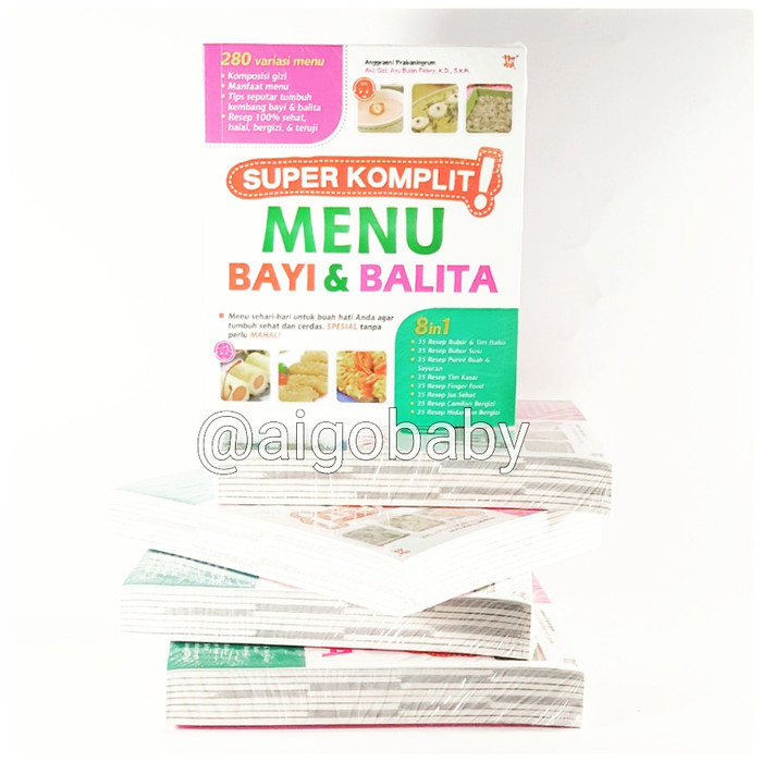 harga Buku super komplit menu bayi & balita Tokopedia.com