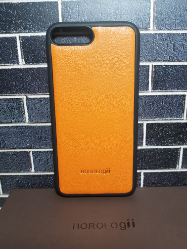 harga Horologii premium germany cow leather casing for iphone 8 plus orange Tokopedia.com