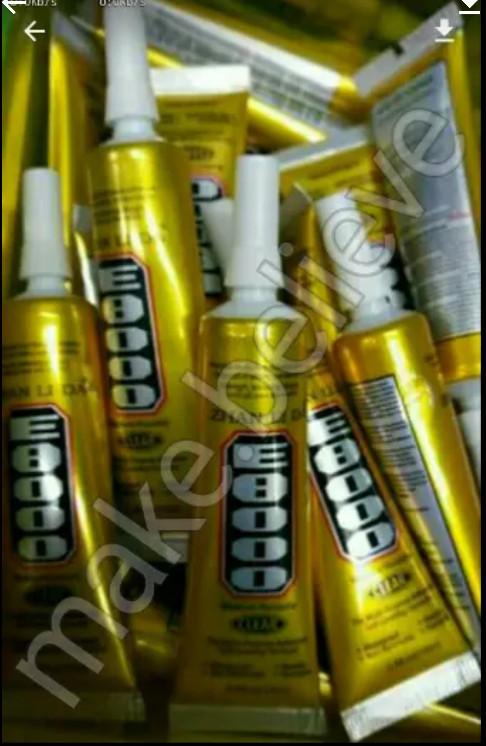Jual Perekat Adhesive Lem E8000 / T8000 / B7000 50ml 50 Mili Backdor, LCD -  Putih - Kab  Cirebon - AMZ make believe Cell | Tokopedia