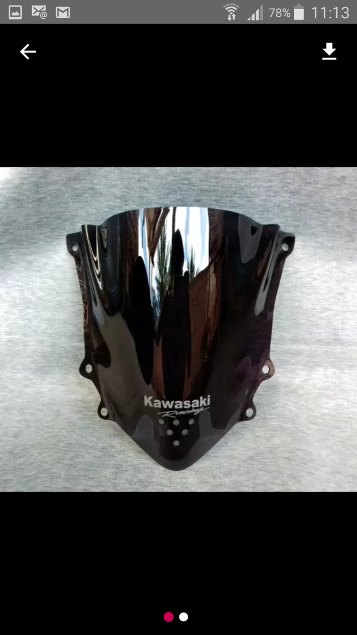 harga Visor/windshiled ninja 150 rr new/super kips jenong hitam smoke Tokopedia.com