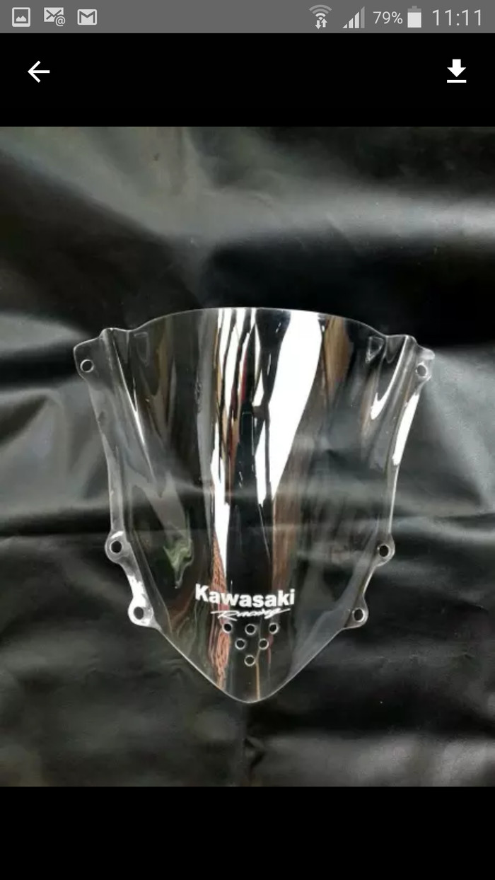 harga Visor/windshiled ninja 150 rr new/super kips jenong bening/clear Tokopedia.com