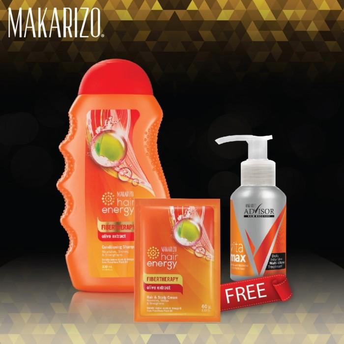 Makarizo Shampoo Olive Oil 330 mL + Hair Recovery Vitamax Pump 50 mL
