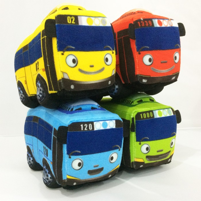 Paket boneka mobil bus tayo rogi lani gani ( 4 pc bus stuffed toy ) 3065f0fe61