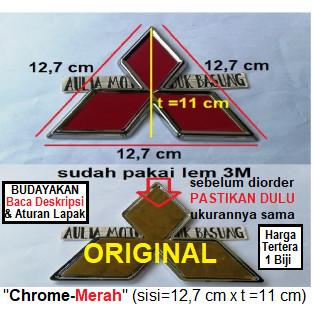 Jual Emblem Ori Logo Mitsubishi 3 Tiga Berlian Pajero Strada Triton Merah Kab Agam Aulia Motor Lubuk Basung Tokopedia
