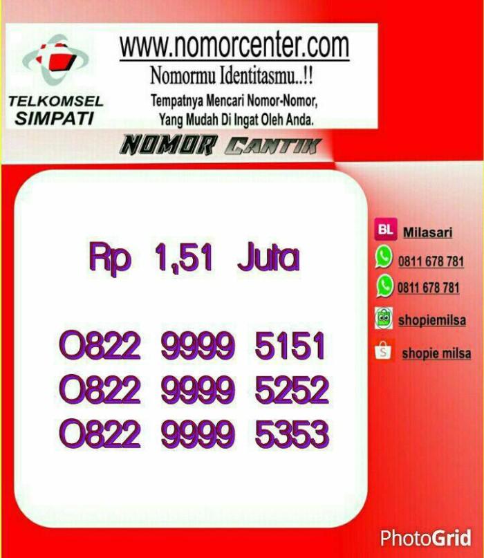 ... Nomor Cantik SimPati KW 9999 Double AB 5151 0822 9999 5151 Hoki M