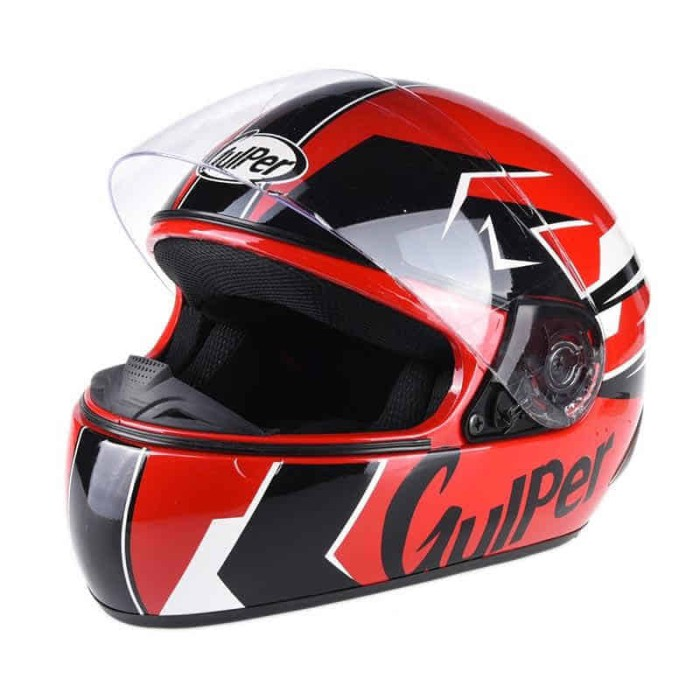 harga Gulper Series Electric Light Helm Full Face - Red Tokopedia.com