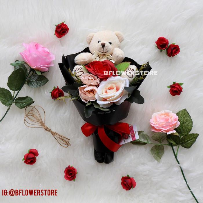 harga Buket bunga artificial palsu boneka teddy Tokopedia.com