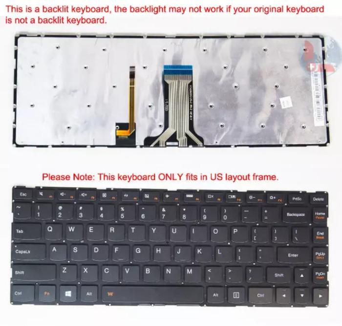 harga Keyboard lenovo yoga 500-14ibd model 80n4 black us Tokopedia.com