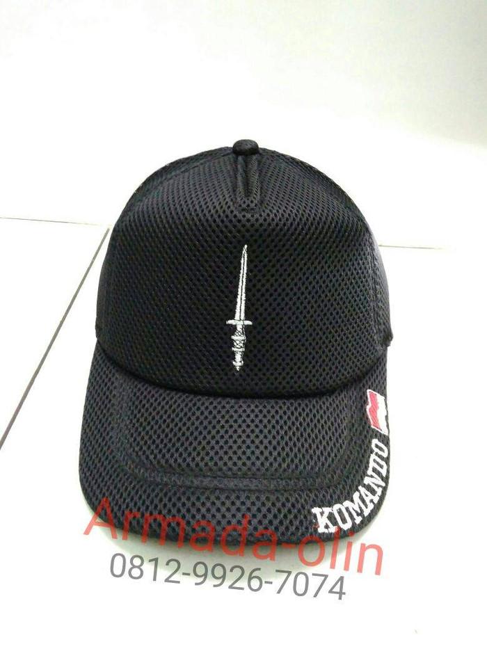Topi jaring komando / Topi Komando / Topi jaring polos hitam