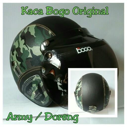 Helm Bogo Retro Army Murah