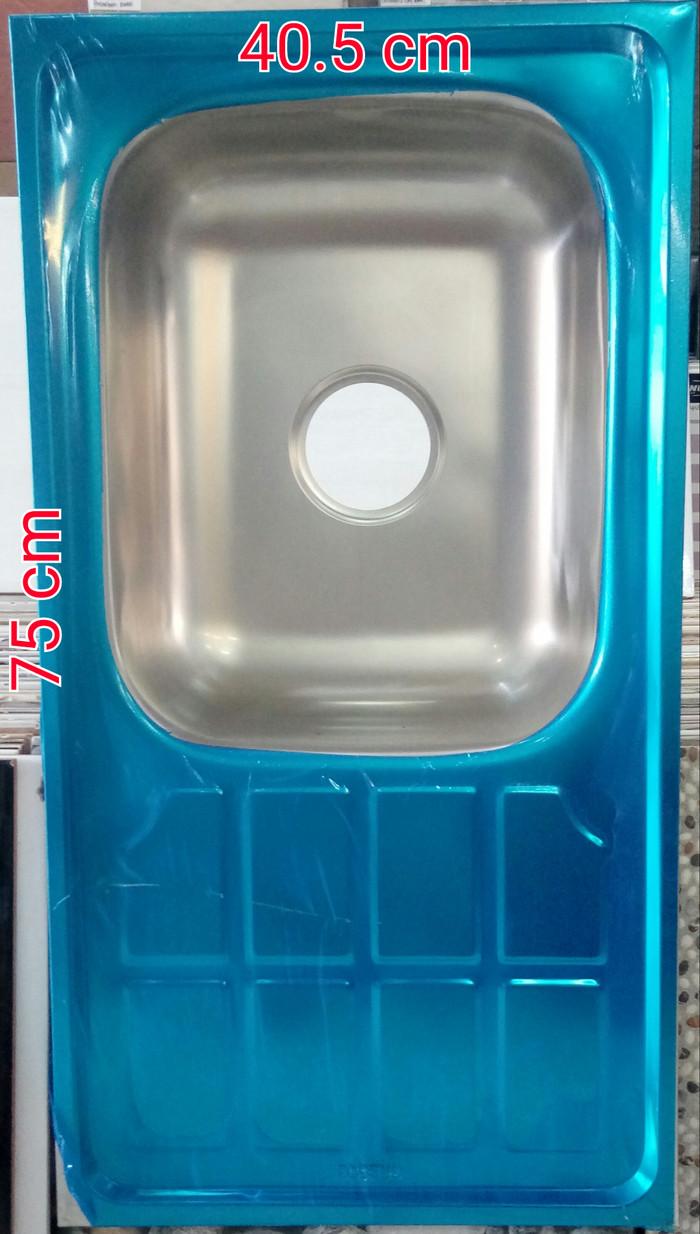 Foto Produk SINK / TEMPAT CUCI PIRING 1 LUBANG + SAYAP & AFUR PLASTIK dari MEGA KERAMIK