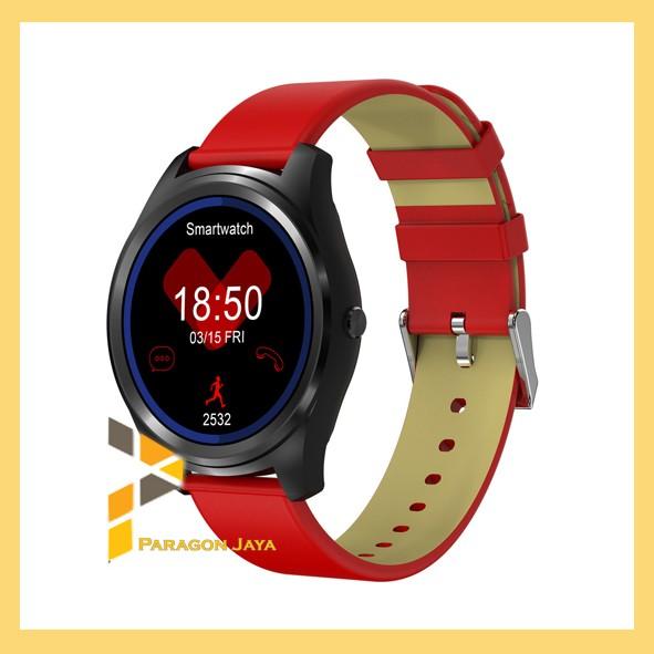 harga Smart watch z4 heart rate - jam tangan smartwatch kulit merah Tokopedia.com